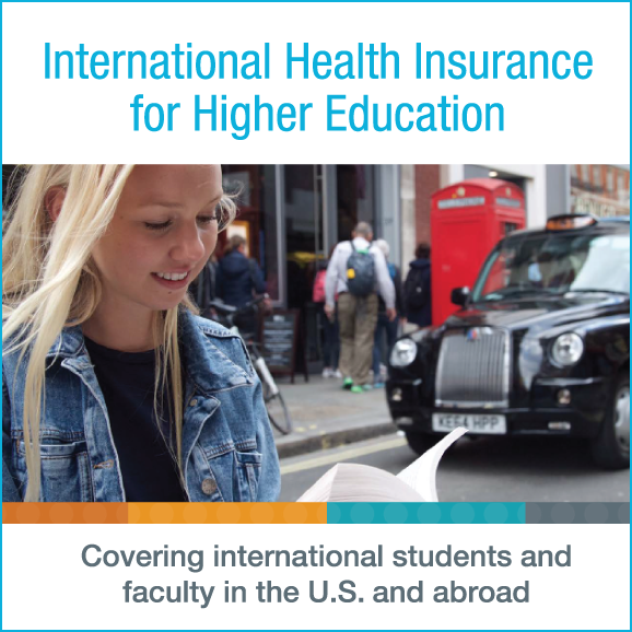 International Health Insurance for Higher Education. Covering international students and faculty in the U.S. and abroad.